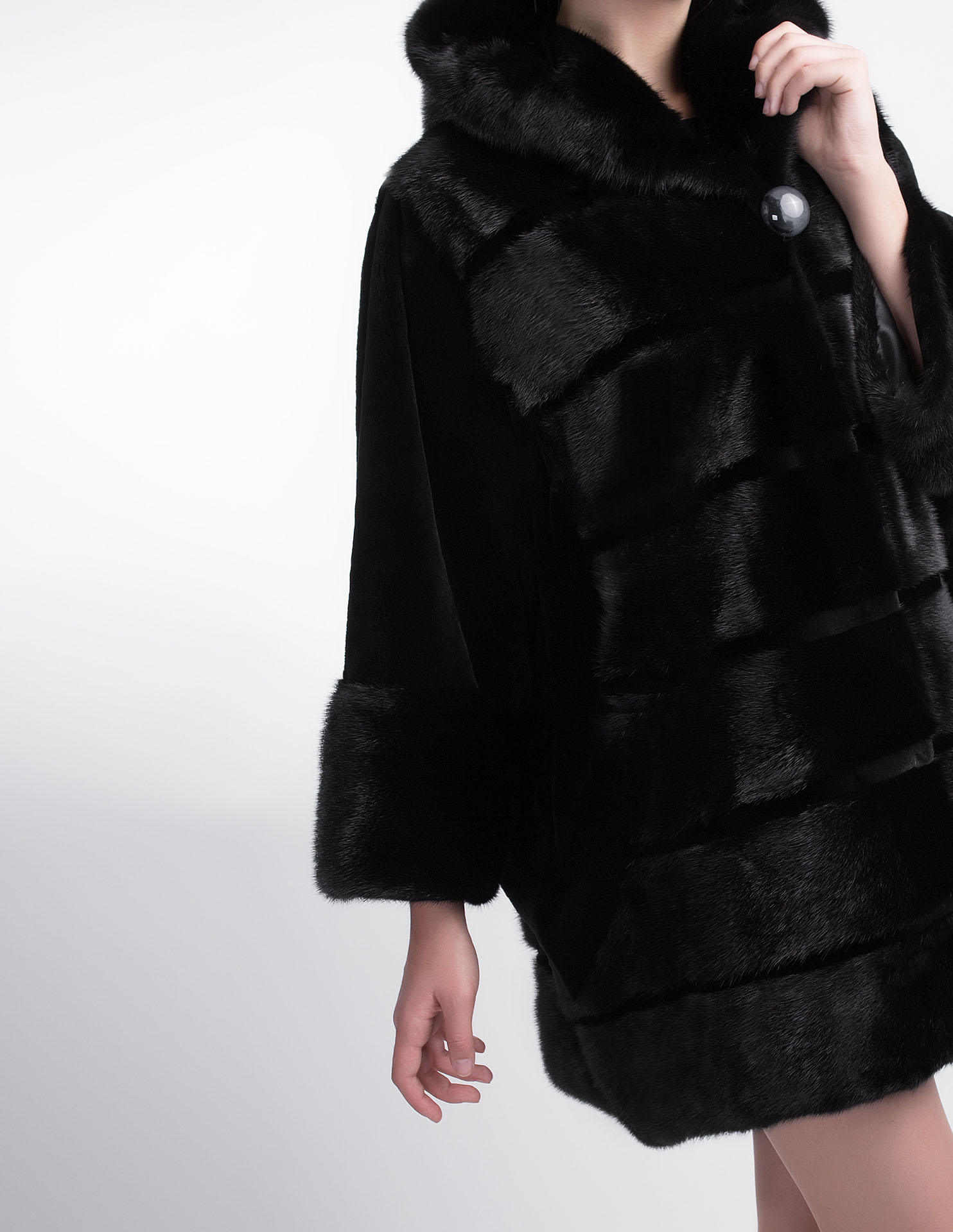 Черная норковая шуба 390